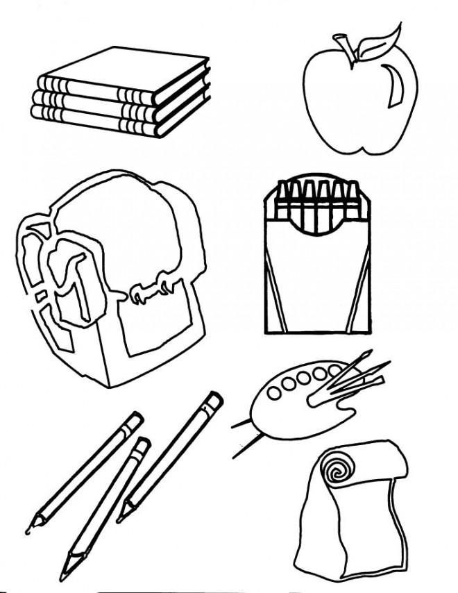 coloriage fourniture scolaire dessin gratuit imprimer. Black Bedroom Furniture Sets. Home Design Ideas