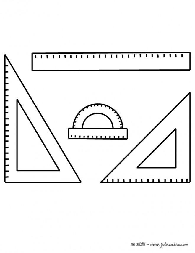 Coloriage et dessins gratuits La Règle pour élèves à imprimer