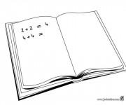 Coloriage et dessins gratuit Le Cahier de Mathématique à imprimer