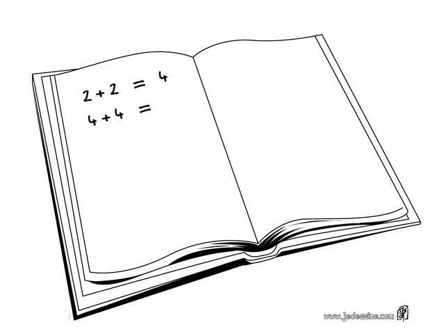 Coloriage le cahier de math matique dessin gratuit imprimer - Cahier de coloriage gratuit ...