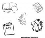 Coloriage et dessins gratuit Matériel pour l'étude à imprimer
