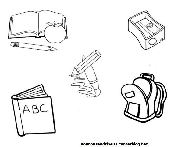 Coloriage et dessins gratuits Matériel pour l'étude à imprimer
