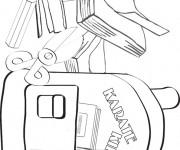 Coloriage dessin  Materiel Scolaire 10