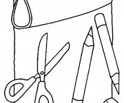 Coloriage et dessins gratuit Materiel Scolaire 2 à imprimer