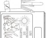 Coloriage et dessins gratuit Matériel Scolaire en noir et blanc à imprimer