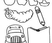 Coloriage et dessins gratuit Matériel Scolaire humoristique à imprimer