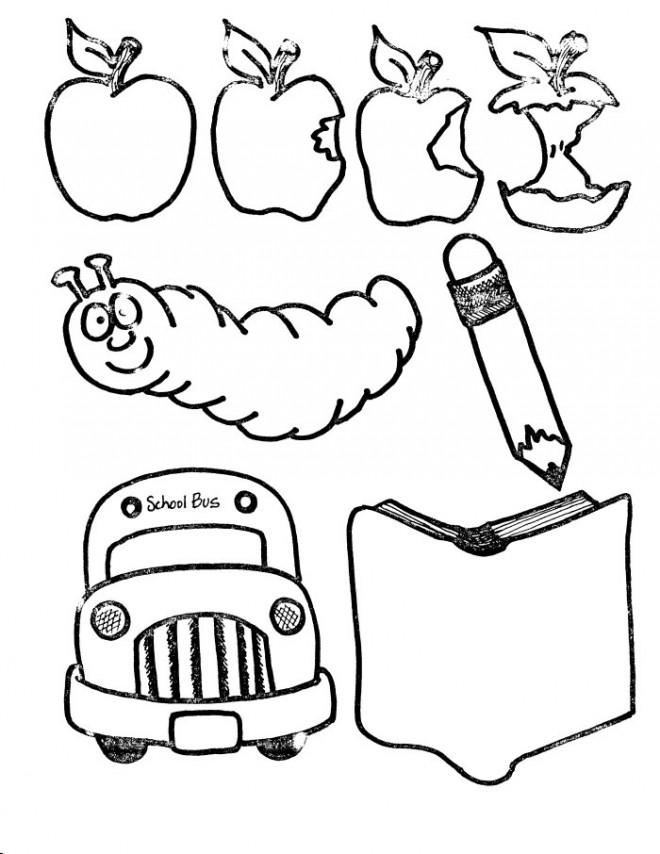 Coloriage et dessins gratuits Matériel Scolaire humoristique à imprimer