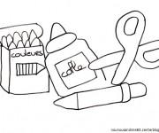 Coloriage et dessins gratuit Matériel Scolaire maternelle à imprimer