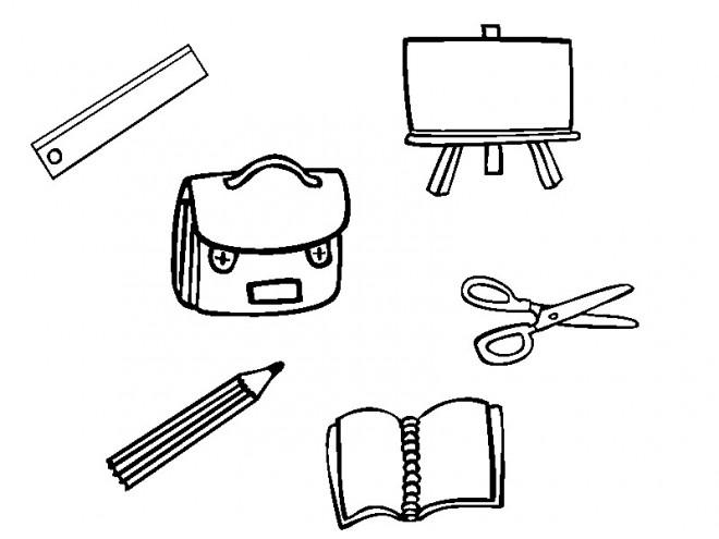 Coloriage et dessins gratuits Matériel Scolaire stylisé à imprimer