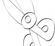 Coloriage et dessins gratuit Un Ciseaux facile à imprimer