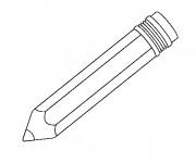 Coloriage Un Crayon pour écrire