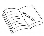 Coloriage et dessins gratuit Un Livre ouvert à imprimer