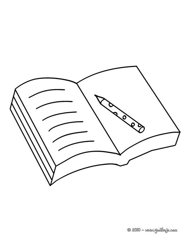Coloriage Un Livre Ouvert Dessin Gratuit A Imprimer