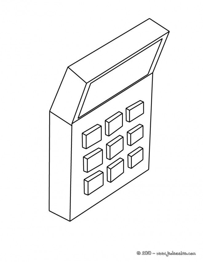 Coloriage et dessins gratuits Une Calculatrice simple à imprimer