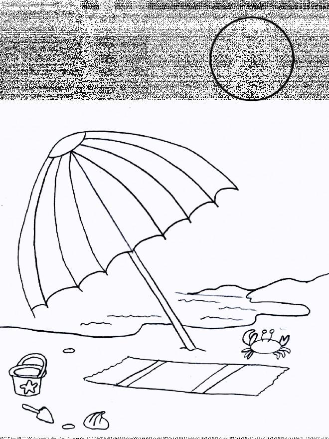 Coloriage et dessins gratuits Amusement sur La Plage en été à imprimer