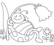Coloriage et dessins gratuit Coccinelle pendant L'Été à imprimer