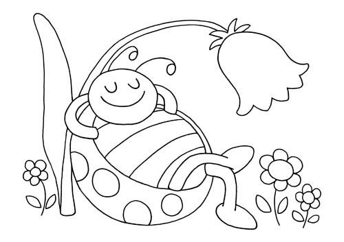 Coloriage Coccinelle Et Papillon.Coloriage Coccinelle Pendant L Ete Dessin Gratuit A Imprimer