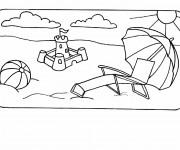 Coloriage et dessins gratuit Été et La Vacance à imprimer