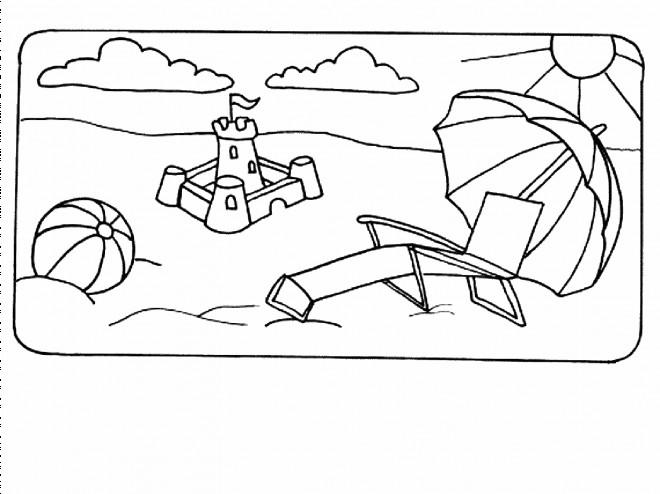 Coloriage et dessins gratuits Été et La Vacance à imprimer