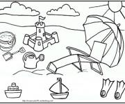 Coloriage et dessins gratuit Été maternelle à imprimer