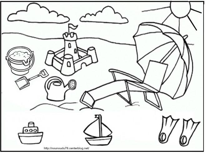 Coloriage et dessins gratuits Été maternelle à imprimer