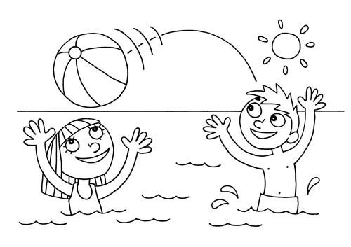 Coloriage t sur la plage dessin gratuit imprimer - Coloriage d ete ...