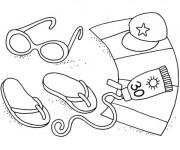Coloriage et dessins gratuit Illustration Maternelle Été à imprimer