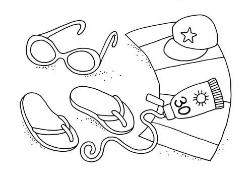 Coloriage et dessins gratuits Illustration Maternelle Été à imprimer