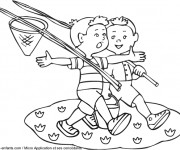 Coloriage et dessins gratuit L'Été et L'enfance à imprimer