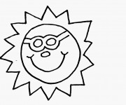 Coloriage et dessins gratuit Le Soleil et L'Été à imprimer