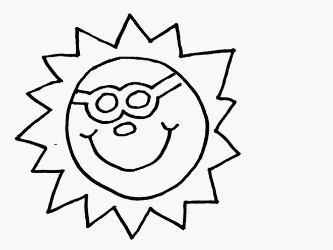 Coloriage et dessins gratuits Le Soleil et L'Été à imprimer