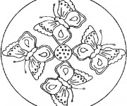 Coloriage Mandala Papillons