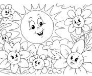 Coloriage et dessins gratuit Maternelle Ete 11 à imprimer