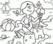 Coloriage et dessins gratuit Maternelle Ete 12 à imprimer