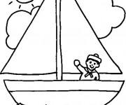 Coloriage et dessins gratuit Maternelle Ete 16 à imprimer