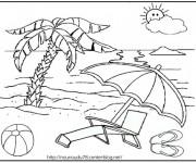 Coloriage et dessins gratuit Maternelle Ete 6 à imprimer