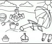 Coloriage et dessins gratuit Maternelle Ete 8 à imprimer