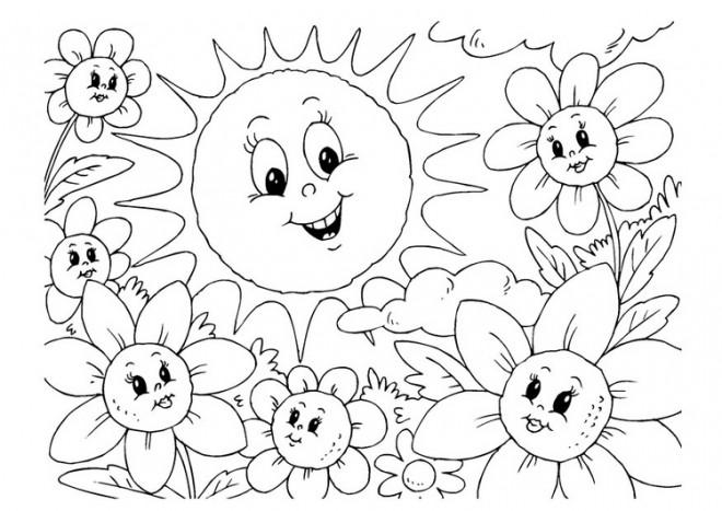 Coloriage et dessins gratuits Maternelle Été petite section à imprimer