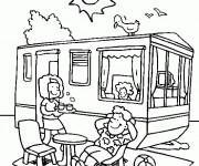 Coloriage et dessins gratuit Relaxation en Été à imprimer
