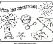 Coloriage et dessins gratuit Vacance d'Été à imprimer
