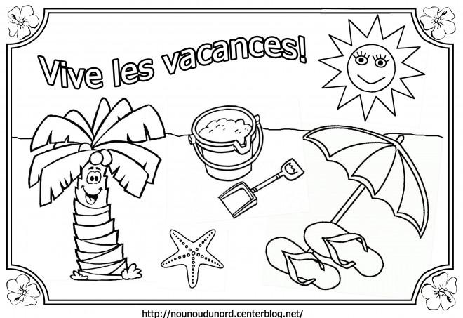 Coloriage vacance d 39 t dessin gratuit imprimer - Coloriage d ete ...