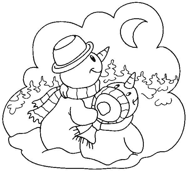 Coloriage et dessins gratuits Hiver pour enfant à imprimer