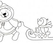 Coloriage et dessins gratuit Maternelle Hiver pour enfant à imprimer