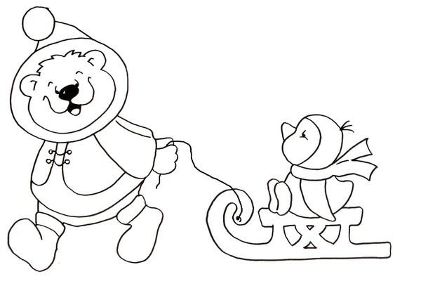 Coloriage et dessins gratuits Maternelle Hiver pour enfant à imprimer