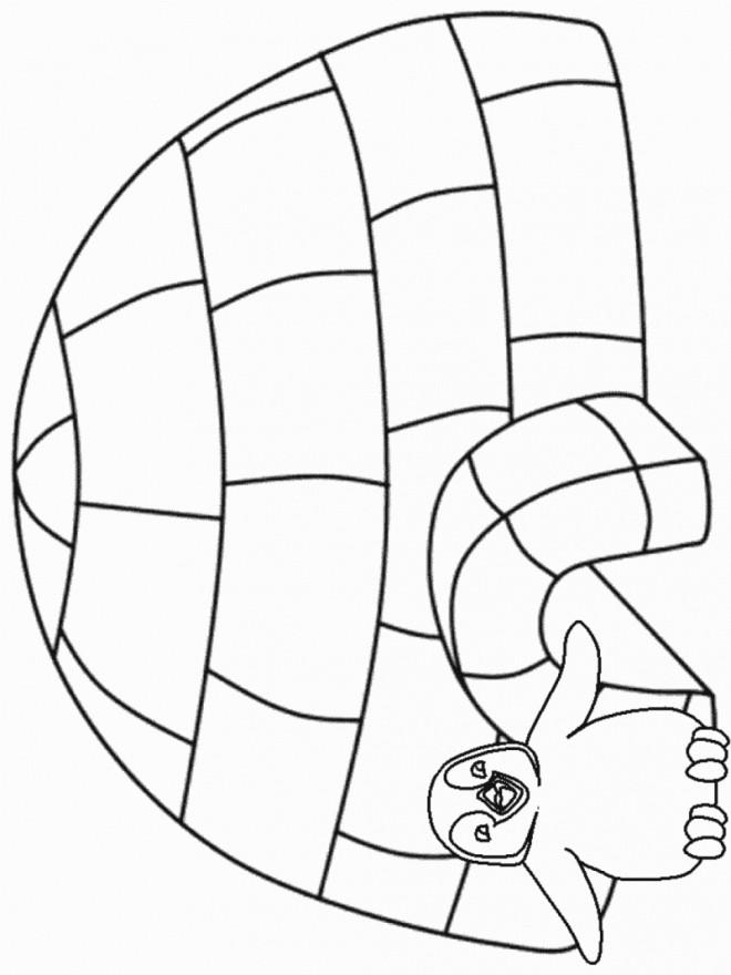 Coloriage et dessins gratuits Maternelle Hiver stylisé à imprimer