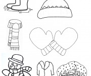 Coloriage Maternelle Hiver