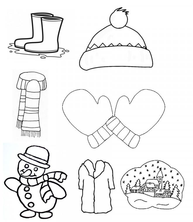 Coloriage et dessins gratuits Vêtements d'Hiver en couleur à imprimer