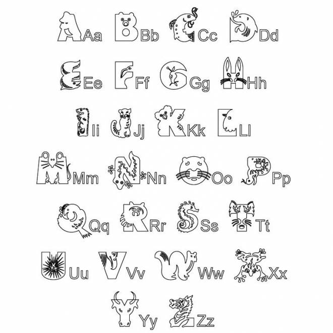 Coloriage et dessins gratuits Alphabet  animaux à imprimer