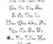 Coloriage et dessins gratuit Alphabet  Maternelle à imprimer