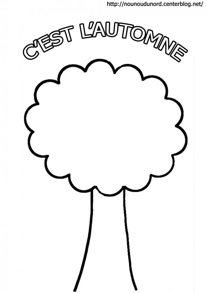 Coloriage et dessins gratuits Arbre en Automne maternelle à imprimer